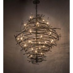 Shop Ave Design at Wayfair for a vast selection and the best prices online. Wire Chandelier, Outdoor Chandelier, Rectangle Chandelier, Outdoor Lighting, Chandeliers, Entry Lighting, Barbed Wire Decor, Barb Wire Crafts, Scrap Metal Art