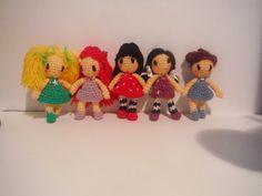 Mis Blanditos Amigurumis: Pattern Amigurumi Doll Keychain