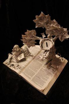 Girl in the Garden Book Sculpture by wetcanvas.deviantart.com on @deviantART
