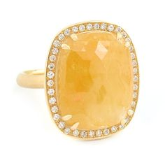 One of a Kind Yellow-Orange Sapphire Ring   One of a Kind Jewellery   Anne Sportun Fine Jewellery Style: RX1409   Anne Sportun Fine Jewellery   Rings - Necklace - Bracelets & Charms - Earrings   Custom Handcrafted Jewellery   Toronto - Canada
