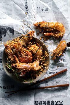 garlic shrimp #food #recipe