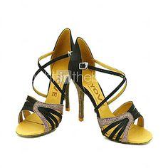 Zapatos de baile (Negro/Azul/Amarillo/Rosado/Morado/Rojo/Blanco/Fucsia) - Danza latina/Salsa - Personalizados - Tacón Personalizado 2016 - $26489