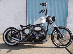 """Number 64"" Harley-Davidson 1200cc Rigid Sportster Bobber. Built by Jones Custom Cycles in 2012. http://jonescustomscycles.co.uk/bikes/number-64-harley-davidson-sportster-rigid-bobber"