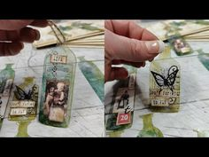 Making Vintage bottle tags from packaging material - YouTube Vintage Crafts, Junk Journal, Ephemera, Embellishments, Alcohol, Vintage Fashion, Paper Crafts, Packaging, Tags
