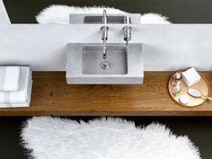 Concrete washbasin Gravelli Slant 06 Mini in grey variant. Floating Nightstand, Floating Shelves, Kinds Of Shapes, Beton Design, Bath Caddy, Decoration, Mini, Wall Mount, Concrete