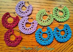 Simple Summertime Crochet Earrings  Design by Beatrice Ryan Designs