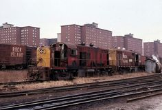 Freights behind the Robert Taylor homes 1977