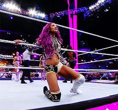 #theboss Sasha Banks at Wrestlemania 33