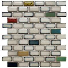 Merola Tile Essence Subway Cascade 12-1/2 in. x 12-3/4 in. Ceramic Mosaic Floor and Wall Tile-FSDESWCS at The Home Depot
