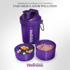 La mejor manera de entrenar es sintiéndote cómoda y liviana. Tu #Vaso Mezclador #Wellness te permite llevar tu porción de #malteada, el agua para prepararla y tus #vitaminas o snacks. ¡Cuélgalo de tu bolso y ya estás lista para alcanzar tu meta!