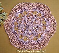 PINK ROSE CROCHET: Centrinho Old Lace Rose