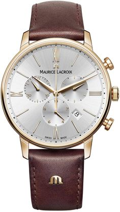 @mauricelacroix Watch Eliros Chronograph #add-content #basel-16 #bezel-fixed #bracelet-strap-leather #brand-maurice-lacroix #case-material-rose-gold #case-width-40mm #chronograph-yes #date-yes #delivery-timescale-call-us #dial-colour-white #gender-mens #luxury #movement-quartz-battery #new-product-yes #official-stockist-for-maurice-lacroix-watches #packaging-maurice-lacroix-watch-packaging #style-dress #subcat-eliros #supplier-model-no-el1098-pvp01-111-1…