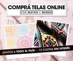 ¡Comprá tus telas favoritas por Internet y recibilas en tu casa! #Confeccion #Tapiceria #Hogar #Decoracion. ¡Hacé tu pedido online en http://www.telasxmetro.com/!