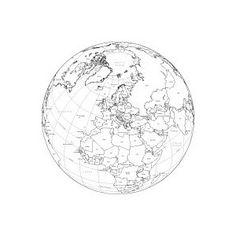 Europe Globe Digital Maps - Adobe Illustrator Maps in EPS Vector Format - Map Resources