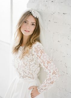 "We're continuing on our quest this Monday to provide as much wedding dress inspiration! From Anna Campbell gowns this morning to the brand new Spring Summer 2015 range of wedding dresses from French designer Rime Arodaky, we're in love with the long sleeves, the short hems and everything in between… From Greg Finck Photography: ""Rime …"