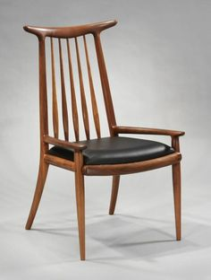 sam maloof furniture | Pair of Hornback Armchairs by Sam Maloof image 2