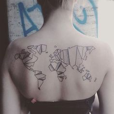 Pin for Later: These 61 Map Tattoos Will Give You Major Wanderlust Divided Map