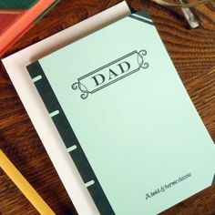 letterpress book cover father's day card by a. favorite design perfect for bookworms librarians