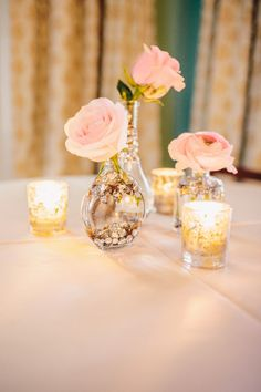 Sequin Vase Reception Decor | photography by http://kellysauer.com/