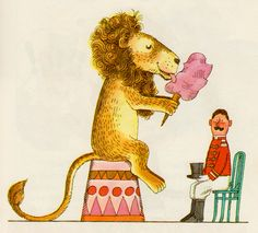 How To Scare a Lion by Dorothy Stephenson, illustrated by John E. Johnson (1965).