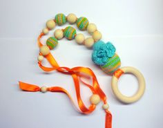 Items similar to Nursing necklace with pendant /Teething necklace / Natural crochet teether/Breastfeeding eco/ cotton thread/wooden beads/wooden pcs on Etsy Crochet Necklace, Beaded Necklace, Nursing Necklace, Wooden Rings, Cotton Thread, Wooden Beads, Toy, Popular, Trending Outfits