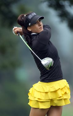 LOVE this skirt - LOVE her swing! MARIA VERCHENOVA plays the Evian Masters