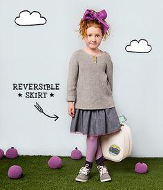 NEW LOOKS   Dundelina   Chunky Rib Sweater + Hop & Skip Skirt ★ Dundelina