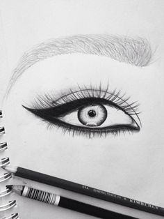 How to Draw an eye // art Cute Drawings, Drawing Sketches, Pencil Drawings, Drawing Eyes, Sketching, Eye Sketch, Body Drawing, Hipster Drawings, Girl Sketch
