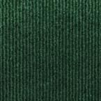 Sisteron Leaf Green Wide Wale Texture 18 in. x 18 in. Indoor/Outdoor Carpet Tile (10 Tiles/Case), Leaf Green/Wide Wale