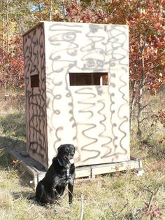 Deer Blind Made Using Old Pallets And Repurposed Barn