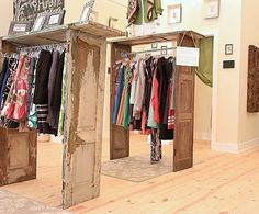 old doors stand Great for the right retail/consignment shop!