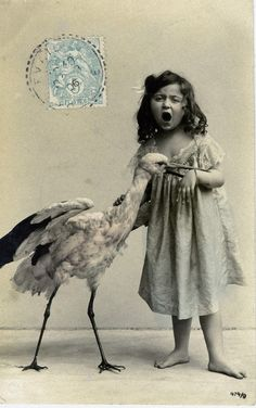 Old photographs surreal that people in the past ... with the animals was taken with the animal