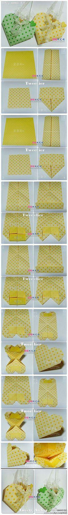 Cute paper heart treat bags
