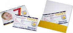 Ticket+Geburtstagseinladung+-+Fussball+-+für+den+Kindergeburtstag Packing, Velvet, Cards, Kids, Bag Packaging