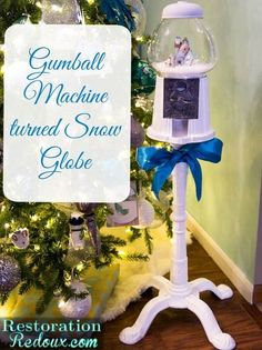 This gumball machine is the coolest snow globe ever.