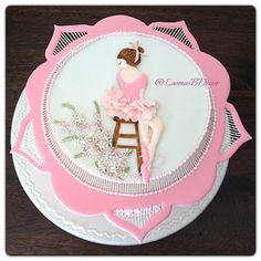 Ballerina Cake Royal Icing techniques
