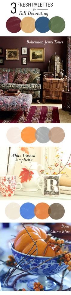 Fall colors 3 Fresh Palettes for Fall Decorating