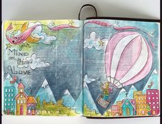 """Stunning Bible Journaling by """"@fischtales"""" (Melissa Smith Fisch) on Instagram... https://instagram.com/p/214MNcvesm/ HOW: I lightly draw the picture with pencil and then outline everything with black colored pencil( then I can gently erase my pencil marks). Then I start painting! I use acrylic paint that I can water down like a watercolor or use it a little thicker if I want. I always start with a light wash and then I can go back and darken up where I want too. When it all dried I go back…"""