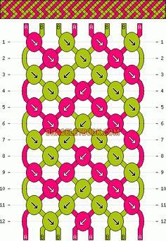 Normal Friendship Bracelet Pattern #7072 - BraceletBook.com