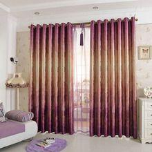 Polyester Thick Oak Tree Printed Light Insulation Room Darkening Curtain