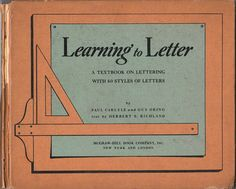 Museum of Forgotten Art Supplies - Learning to Letter - Books