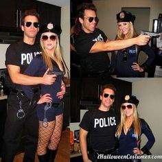 100 Best Couples Costumes & Matching Costumes For Halloween 2018 Cop Costume, Cute Couple Halloween Costumes, Halloween 2018, Best Couples Costumes, Halloween Party Themes, Cute Costumes, Halloween Outfits, Halloween Couples, College Couple Costumes