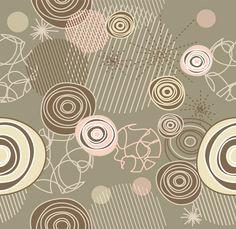 Retro Scribble & Circles Abstract Vector Pattern - http://www.dawnbrushes.com/retro-scribble-circles-abstract-vector-pattern/