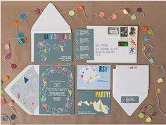 cheerful and chic wedding stationery set