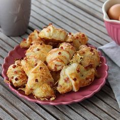 Käse-Schinken-Croissants