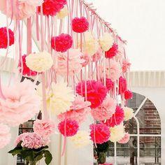 10PCS DIY 6''(15CM) Handmade Tissue Paper Pom Poms Flower Kissing Balls Home Decoration Festive & Party Supplies Wedding Flowers