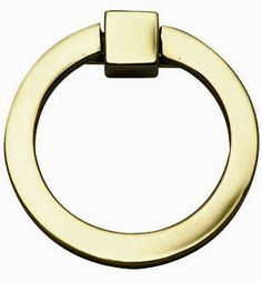 $14.99 all finishes avail. 3 Inch Mission Style Solid Brass Ring Pull (Polished Brass Finish)