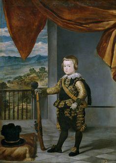 Diego Rodríguez de Silva y Velázquez (Workshop). El príncipe Baltasar Carlos,1636