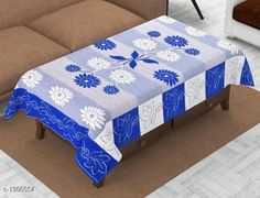 Table Cover Table Cover  *Material * Polyster  *Size ( L X W ) * 40 In X 60 In  *Thickness * 15 mm  *Description * It Has 1 Piece Of 4 Seater Table Cover  *Sizes Available* Free Size *   Catalog Rating: ★4.2 (1125)  Catalog Name: Elegant Table Covers Home & Kitchen Utilities Vol 4 CatalogID_166872 C129-SC1637 Code: 091-1306554-