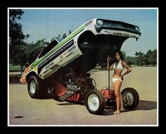 """Show Car Guys"" Funny Car., 1973"
